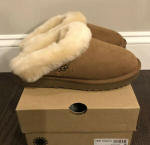 New UGG Women's Size 6 Cluggette Slippers CHE Chestnut Brown