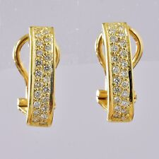 DIAMOND EARRINGS GENUINE 44pts VS DIAMONDS REAL 18K 750 GOLD VALUATION $4300 NEW