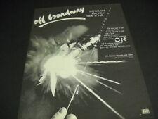 Off Broadway Oak Park, Il introduces the album On original 1980 Promo Poster Ad