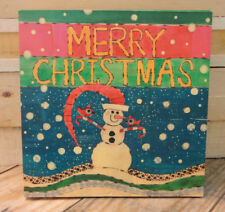 "Painted Peace "" Merry Christmas ""  Wall Plaque - Design by Stephanie Burgess"