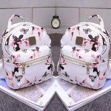 Women Floral Backpack Travel PU Leather Handbag Rucksack Shoulder School Bag