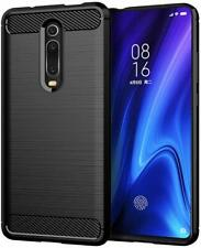For Xiaomi Mi A3 | Mi 9T Slim Carbon Fibre Gel Phone Case +Screen Protector