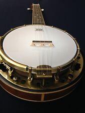 Caraya Concert Size,Flame Maple Resonator Banjo Ukulele,Banjolele+Free Gig Bag