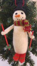 15cm feltro di lana sci pupazzo di neve ornamento non associate o decorazione albero di Natale