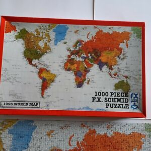 FX Schmid 1996 World Map Puzzle 1000 Pieces Geography  90231 Travel Hot Spots