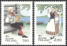 Finland 1989 Traditional Costumes/Clothes/Music/Musician/People 2v set (s333t)