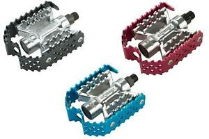 """Odyssey Triple Trap Pedals Old Mid School BMX 1/2""""or  9/16"""" Red Blue Black"""