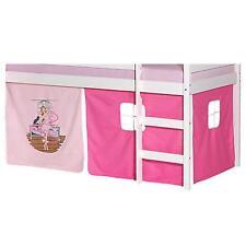 Rideaux cabane pour lit surélevé mi-hauteur tissu coton motif danseuse rose