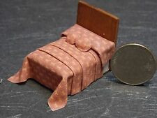 Dollhouse Miniature Bed Deep Rose 1:48 Quarter inch scale 1/4 F54 Dollys Gallery