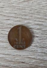 Nederlandse Munt: 1 cent uit het jaar 1948