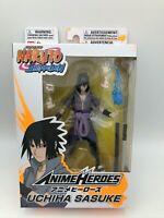 """Bandai Anime Heroes Naruto Shippuden Uchiha Sasuke 6"""" Action Figure NEW IN BOX"""