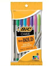 BIC Cristal Xtra BOLD 8 pack assorted colors ball point style pens BNIP