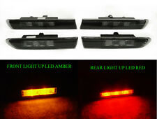 Type-S Look Smoke 4 Pieces Amber/Red LED Side Marker Lights For 2004-08 Acura TL
