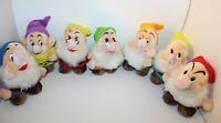 """Walt Disney Snow White And The Seven Dwarfs Plush Toy Set 7"""" Made In Korea"""