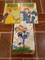 Tower Of The Future Volumes 1-3 CMX English Manga Saki Hiwatari FREE SHIPPING