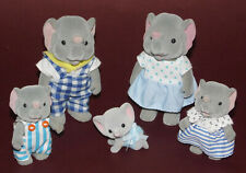 SYLVANIAN FAMILIES * Vintage Elephant Family * 5 Figures * b
