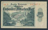 Karlsruhe Pick-number S1273 used (III) 1923 100 Billion Mark (8590192