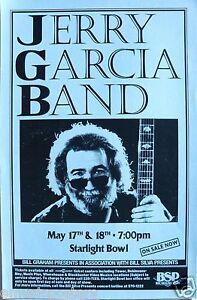 JERRY GARCIA BAND 1994 SAN DIEGO CONCERT TOUR POSTER - Grateful Dead Guitarist