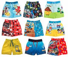Boys Character Swim Shorts Swimming Beach Trunks Board Shorts Holiday Kids Size