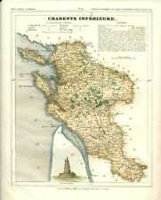 Charente Inferieure, French Department.  Cartographer V. Monin, c1833
