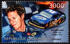 Brad Keselowski & Miller Lite DODGE CHARGER NASCAR Race/Racing Car Stamp (2012)