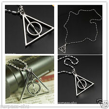 1PC Harry Potter Deathly Hallows Alloy Necklace MIDDLE CIRCLE CAN SPIN jewe