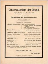 Felix MENDELSSOHN (Composer): 1870 Memorial Program