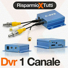 MINI DVR VIDEOSORVEGLIANZA VIDEO IN OUT REGISTRA SU SCHEDA TF SD 1 CANALE REC
