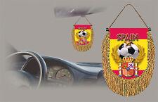 SPAIN SOCCER FLAG CAR MINI BANNER, PENNANT