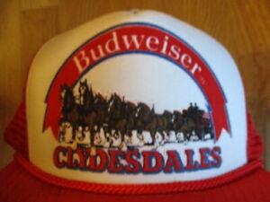 Vintage Anheuser-Busch CLYDESDALES Budweiser (Adjustable Snap Back) Mesh Cap