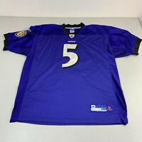 Reebok NFL Baltimore Ravens Joe Flacco #5 Purple Jersey Size 54/XXL STITCHED