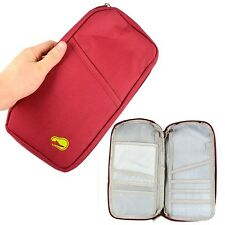 Fashion Portable Passport Pouch ID Credit Card Wallet Cash Holder Travel Bag