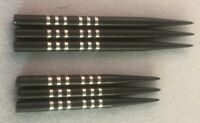 Winmau Replacement Spare Dart Points Re-Grooved Black 32mm, 41mm Free P&P