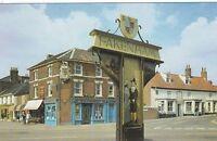 Postcard - Fakenham - The Town Sign, Norwich Street