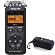 Tascam DR-05 V2 Version 2 Handheld PCM Portable Digital Audio Recorder + Case
