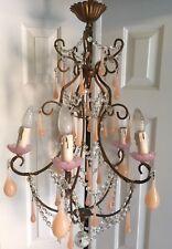 French Italian Pink Opaline Chandelier