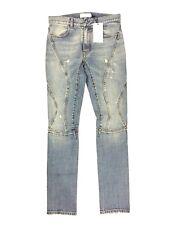 FAITH CONNEXION Mens Light Blue Running Moto Slim Fit Denim Jeans 28 (MSRP $966)