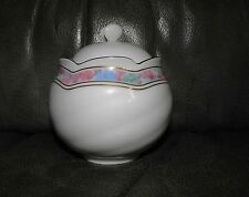 Freiberger Porcelain Poetry Flower Border Sugar Bowl with Lid