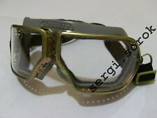 RUSSIAN  AVIATOR Flyship motorcycle rare protective glasses metal  googles new