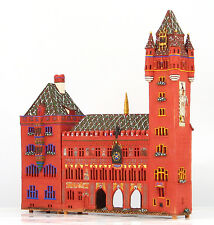 candle holder ceramic house mineture 'Town hall in Basel' 39 cm, © Midene statue