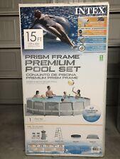 New listing Intex 15ft X 42in Prism Frame Pool Set - 26723Eh