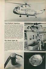 1961 Sikorsky S-61L Helicopter Airline Passenger Chopper Travel by Copter
