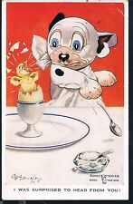 VALENTINES CARD GE STUDDY BONZO SERIES I WAS SURPRISED TO HEAR FROM YOU  1927