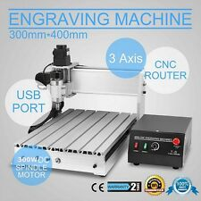 3 AXIS CNC Router Engraver 3D Engraving Drilling Milling Machine 300W 3040