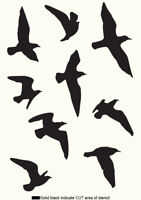 Seagul Birds STENCIL Painting Wall Furniture Home Decor Reusable Crafts Art AN13