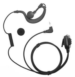 Security G-Shape Headset/Earpiece Mic For Motorola Radio Walkie Talkie 1 Pin UK