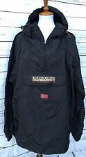 Napapijri Rainforest Men's Jacket XL NEW Pullover Windbreaker Black