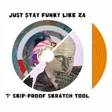 """Just stay Funky Like ZA 7"""" Scratch Record Skipless Scratch Sample Vinyl Orange"""