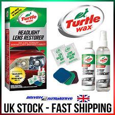 Turtle Wax Headlight Restoration Kit Car Headlamp Lens Restorer Scratch Remover