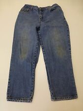 Bill Bass Petite Womens Size 14P Easy Fit Blue Jeans Fair Condition